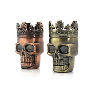 Alloween smoke Metal King Skull Tobacco Spice Herb Grinders Crusher Pollen Catcher Plastic ghost head ashtray