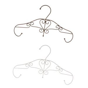 2pcs 6 Hooks Iron Rack Wall Door Mounted Clothes Coat Towel Hat Key Hanger