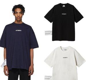 남성 디자이너 T 셔츠는 대형 세탁 라벨 인쇄 패션 브랜드 짧은 소매 느슨한 캐주얼 티 셔츠 옴므 VETEMENTS