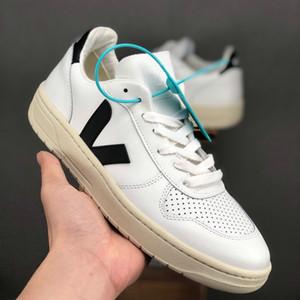 2019 zapatillas de deporte Veja ESPLAR extra de piel Casual V zapatos de moda para hombre de lujo Zapatos corrientes de los deportes zapatillas blancas Negro Rojo des Chaussures