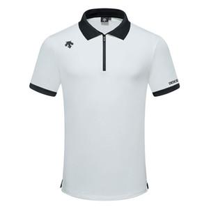 2020 New DESCENTE Sports de plein air manches courtes Golf T-shirt manches courtes d'été vêtements de golf hommes Sport Chemises de bonne qualité