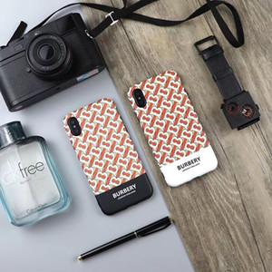 Estojo de couro de luxo para iphone xs max xr case marca de volta tampa do telefone proteção coque para iphone 11 11pro 11pro max phone case