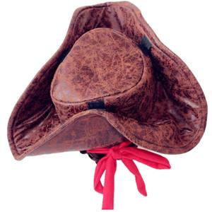Chapéu de cowboy pirata, adereços de festa, mantimentos de Halloween, chapéu de festival de fantasma, melhor chapéu para fortalecer a atmosfera festiva