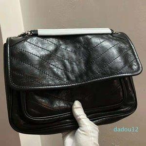 Doblar Désigne Diseñador Cuero de cuero bolsos de alta calidad de lujo bolsos de las mujeres famosas marcas de bolsas bolsa de la cubierta de cuero del tirón de hombro genuino