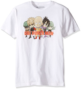 One Punch Man Gang Adulte entier T-shirt japonais Superhero Webcomic action Com