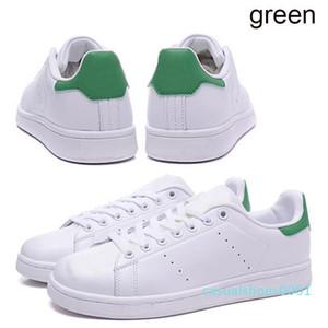 Original smith casuais sapatos meninas designer de tripler verde preto branco de prata azul rosa vermelha dos homens stan sapato de couro flats sneakersAC01