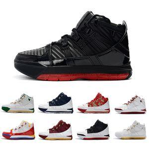 Zapatillas de deporte baratas deportivas de baloncesto Fresh Bred SuperBron James Black Remix Oreo Martin Black Gold para hombre Zapatillas deportivas 40-46
