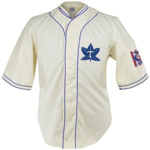 Toronto Maple Leafs 1939 Home Jersey 100% genähte Stickerei Logos Vintage Baseball Jerseys Benutzerdefiniert Beliebiger Name Beliebige Nummer Kostenloser Versand
