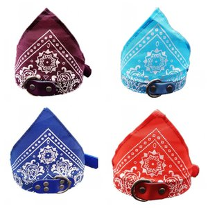 Pañuelo para el cuello del perro Pañuelo Impresiones florales triangulares Collares para gatos Collares para perros de moda Decoración de fiesta más tamaño 3 3kl E1