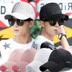 Net Baseball Cap Femmes d'été chapeaux de soleil en plein air évider Snapbacks Mode Ponytail Caps Respirant Casual Mesh boule Chapeau GGA3505
