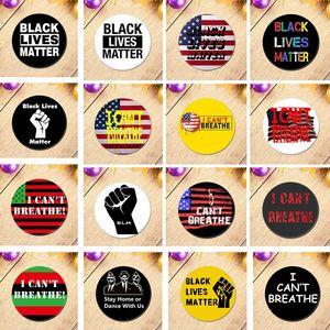 Новый я не могу дышать бейдж жизни чернокожих важны значок Штыря сплава Джордж Флойд брошь американского парада знак благосклонности партии 6086