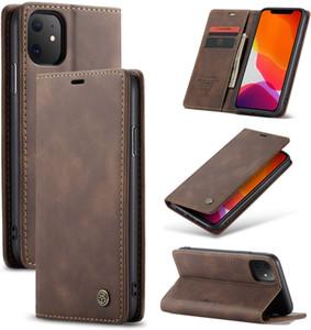 CaseMe magnético tirón de la carpeta de cuero de la caja del teléfono para el iPhone 6 7 8plus x 11/11 Pro Max Samsung S10 S9 Huawei Huawei P30 Pro