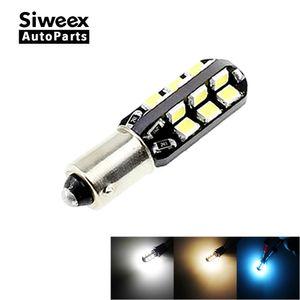 Otomobiller Motosiklet 1PCS H6W BAX9S Otomobil için LED Ampüller 24 SMD 2835 Side Marker Okuma Işıklar Plaka Kapı Lambası Beyaz ve