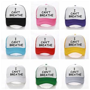 Ich kann nicht Baseball-Mütze Schwarz Lives Matter Parade-Caps Outdoor-Sommer-Sonnenschutz-Hysteresen I Cant Atem Caps Party-Hüte Supplies RR Breathe