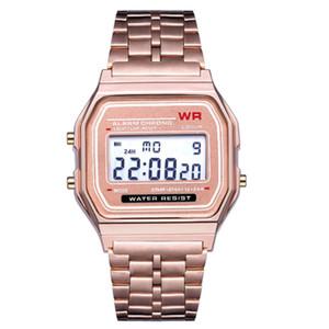 2019 F 91W светодиодные электронные часы Мужские спортивные часы из нержавеющей стали цифровые часы студенты дата цифровые часы Наручные часы смарт