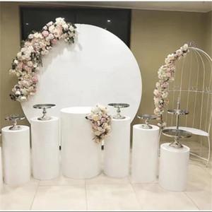 Doğum Bebek Sahne Düğün Süslemeleri Karşılama için geniş Kemerler Arka planında Dekor Yuvarlak Kek Raf Duş Grand Olay Demir Çemberleri Standı