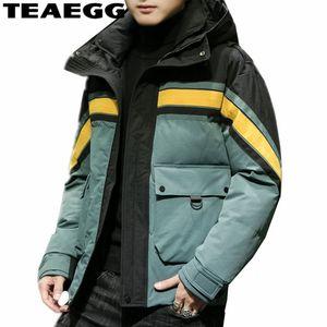 TEAEGG Coton À Capuche Parka Homme Hiver Veste D'hiver Homme Parkas Hombre Plus La Taille 4XL 5XL Outwear Blouson Vestes Et ManteauAL1563