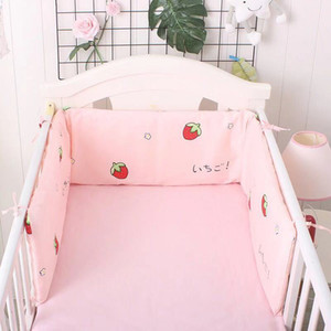 Cotton Baby Bed Bumper Pad Babyy Room Décor 180cm Baby Bed Bumpers for Cribs Set Nusury Protection Cushion for