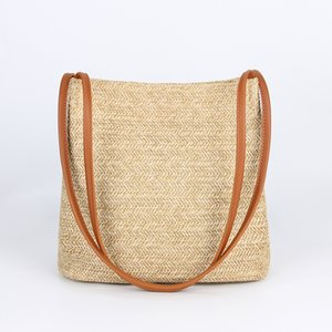 Womens Casual Shoulder Bags Straw Bags Lady Sling Bag Handbags Shopping Purse Lightweight Female Tote Bags Travel Beach Vocation Bag