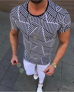 Геометрический Mens Designer Tshirt 3D Digital Printed Короткий мужской рукав Каузальной Мужской одежды