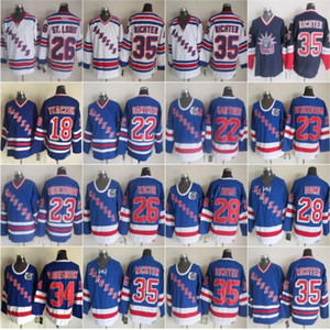 New York 35 Mike Richter Rangers 28 Tie Domi 23 Jeff Beukeboom 18 Walt Tkaczuk 34 John Vanbiesbrouck 22 Mike Gartner 26 Joe Kocur Vintage