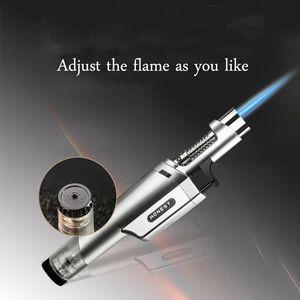Gasfeuerzeug-Zigarre nachfüllbar Butan Fackel windundurchlässige Strahl-Flamme-Feuerzeug-Zubehör Rauchen
