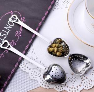 2019 Kalp Şekli Paslanmaz Çelik Çay Süzgeçler Gümüş Tea Leaf Bitkisel Filtre Demlik Kaşığı Süzgeç pratik Mutfak Aracı sevimli Epacket