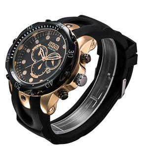 Top Vender Quartzo Suíço Assista Calendário INVICTA Relógio de pulso de aço inoxidável Rose Men ouro Esporte Exército DZ Militar Relógios Silicone Strap