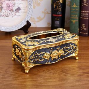 Элегантная коробка ткани для бумажного полотенца золото серебро ящики для хранения контейнер салфетки держатель чехол организатор Главная Гостиница бар автомобильные принадлежности Y200328