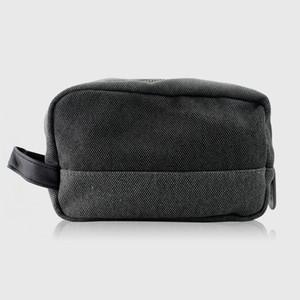 حقيبة سفر قماش المنسوجة + الجلود + جميع الفولاذ سستة حقيبة تخزين حقيبة يد حقيبة مستحضرات التجميل