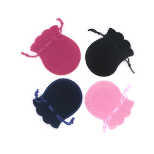 Multi Colors Velvet Bag 500pcs lot 7x9cm Drawstring Pouch Gourd Shape Charms Jewelry Packaging Bags Wedding Christmas Gift Bag