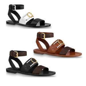piel de becerro elegante suela cruz hebilla accesorio ajustado señora de las mujeres chica tobillo correa de verano Academia zapatos sandalia plana