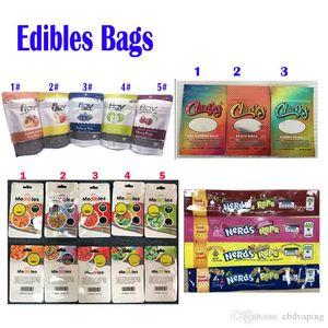 Flav 420 Chuckles Medibles nerds SEIL Infundiertes Süßigkeit Gummies Verpackung Beutel 710 Edibles Verpackung Mylar-Tasche Geruch Proof-Paket für Candy Lebensmittel