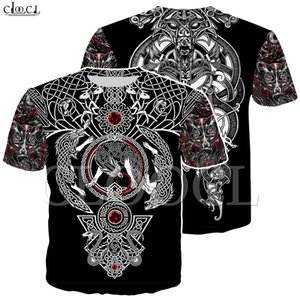 Nordic Viking Tattoo Art Skull T Shirt Women Men Pirates 3D Print T-shirts Vikings King Short Sleeve Casual Tops Drop Shipping Y200601
