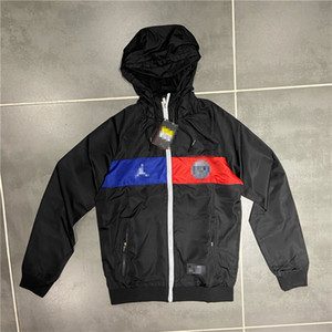 Mens Designer Sport Marque équipe Vestes Club Coupe-Vent printemps manteaux Imprimer Tôlé Zipper Hoodies De Course Outwears X 2041402 V