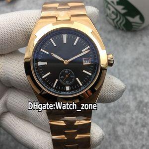 Pas cher New 42mm Outre-mer 4500 V / 000R automatique en acier Mens 4500 V Montre cadran noir en or rose Bracelet de haute qualité Montres Watch_zone 7 Couleur