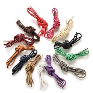 Round Waxed Coloured Shoelaces For Leather Shoes Laces Strings Martin Boots Sport Shoes Cord Ropes Colors 2.5 Mm