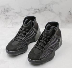Kanye West Quantum 1 Баскетбол обувь 3M светоотражающие Статическая Белый Черный 1s Mens Basketball обувь Kanye Спорт Дизайнерские Бег кроссовки