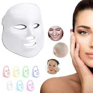 Masque facial à 7 couleurs à LED - Thérapie à la lumière de photons pour un rajeunissement de la peau en bonne santé - Soins du visage pour une peau beauté anti-âge