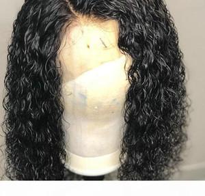 360 Frontal del merletto parrucca riccia 150% Densità Pre a pizzico con capelli del bambino 360 Frontal del merletto parrucche dei capelli umani profonda Curl Linea sottile naturale (18 pollici, C