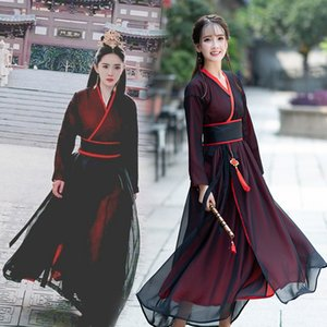 Femmes Hanfu longue robe TV performance robe carnaval halloween Déguisement Impératrice Costume Drame Fée cosplay vêtements habillement de scène
