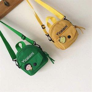 여자 캔버스 가방 소녀 메신저 가방 귀여운 패션 초등학교 어깨 가방 캐주얼 캔버스 아이들의 작은 가방