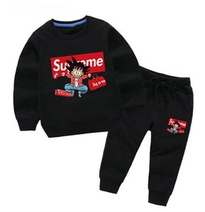 Yeni tasarımcı Bebek Sonbahar Giyim Seti Çocuk marka bebek Kız Erkek Uzun Kollu Hoodie Üst + Pantolon 2 Adet Suit Moda Eşofman Kıyafetleri