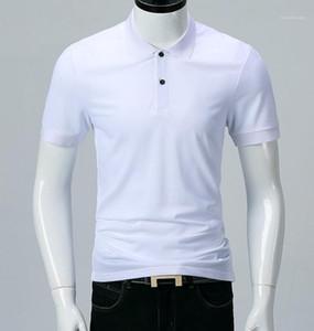 رجال (بولوس) الصيفي الأبيض الصلب الأسود يرفضون أزياء الياقات كل قمصان البولو ذات الأكمام القصيرة الكلاسيكية
