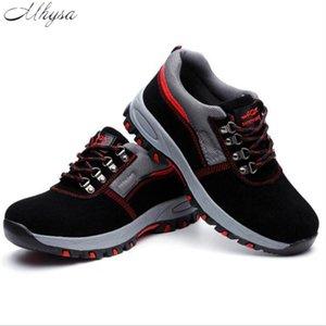 Mhysa 2019 Safety Toe Steel Work Chaussures Hommes Mode respirant Slip Bottes Casual Mens travail Assurance Crevaison Hommes Chaussures de sécurité