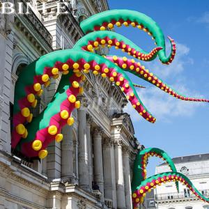 Cadılar Bayramı dekorasyon için özelleştirilmiş Kentsel-Sanat açık yeşil dev şişme ahtapot dokunacı şişme inkfish ayaklar