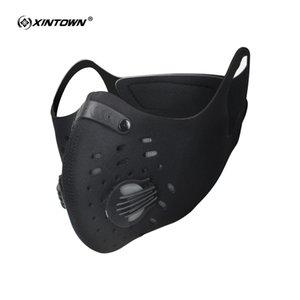 XINTOWN Radfahren Masken Aktivkohle Anti-Staubschutzmaske Staubdichtes Gebirgsfahrrad Sport Rennrad Masken Gesichts-Abdeckung