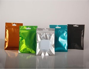 100 pieces One side clear colored Resealable Zip Mylar Bag Aluminum Foil Bags Smell Proof Pouches Jewelry bag Epacket