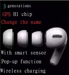 2020 Новые GPS Rename АР3 H1 Chip беспроводной зарядки In-Ear Bluetooth Earbuds С смарт-сенсор телефона Всплывающие беруши Верхнее качество звука