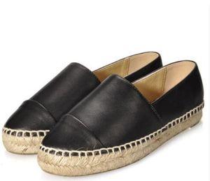 Frauen Espadrilles Fashion Brand Damen Lammfell Dicker Boden Lässige Designer Echtes Leder Loafer Wohnungen Schuhe